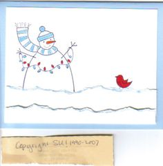 Simple Snowman by golfingstamper - Cards and Paper Crafts at Splitcoaststampers Stamping Up, Snowman, Paper Crafts, Simple, Cards, Tissue Paper Crafts, Snowmen, Map, Papercraft