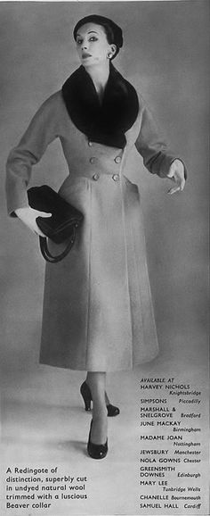 Beautifully tailored 1950s winter coat perfection. #princess #coat #fashion #vintage #1950s
