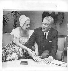 1951 Nelson Eddy Actor Gale Sherwood Press Photo