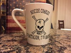 suicide charley 1st battalion 7th marines coffee by StrateCrafts