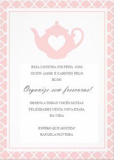 Organize sem Frescuras | Rafaela Oliveira » Arquivos » Guia da casa para os recém casados