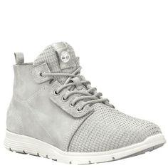 Timberland Women's Killington Chukka Shoes Light Grey Full-Grain/Mesh
