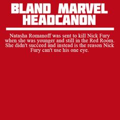 """whoa THIS IS NOT BLAND THIS IS EARTH SHATTERING DON'T """"BLAND MARVEL HEADCANNON ME"""" DANG"""