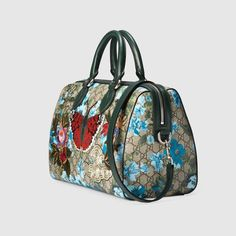 798a9e25b14d GG floral print top handle Gucci Gifts, Boston Bag, Modern Luxury, Gifts For