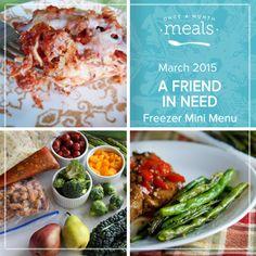 Friends In Need March 2015 Mini Menu