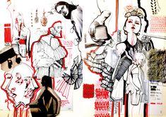 Alessia Pinzauti Illustrations for Fashion Sketchbook … - Fashion portfolio ideas Portfolio Design, Portfolio Fashion, Fashion Illustration Portfolio, Fashion Illustration Collage, Illustration Mode, Fashion Collage, Portfolio Ideas, Cv Fashion Designer, Fashion Design Sketches