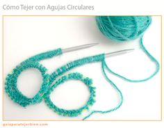 Juego de agujas circulares de acero inoxidable agujas de tejer circulares para manualidades GGHKDD multiusos