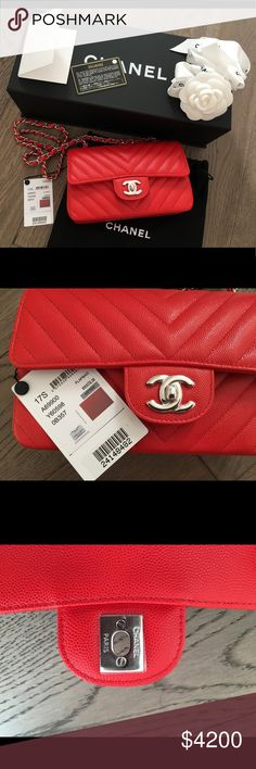 Chanel Mini Rectangular Caviar Gorgeous Chanel Mini in caviar. Brand new in box. Comes with box, dust bag, authenticity card, care booklet and camellia. Made in France! I can accept offers via PP CHANEL Bags Crossbody Bags