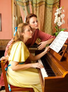 A modern photographic retelling of Young Girls at the Piano by Pierre Auguste Renoir