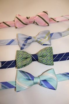 Make kids Velcro bow ties out of men's ties