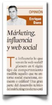Marketing, influencia y web social, en Expansión