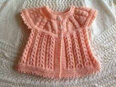 Ravelry: Project Gallery for all-in-one baby top pattern by marianna mel Baby Cardigan Knitting Pattern Free, Easy Knitting, Baby Knitting Patterns, Knitting Stitches, Knitting Designs, Baby Patterns, Knitting Projects, Knitting Dolls Clothes, Ag Doll Clothes
