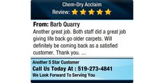 Another great job. Both staff did a great job giving life back go older carpets. Will...