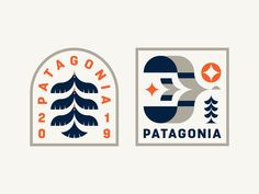 Patagonia Badges designed by Patrick Moriarty. Connect with them on Dribbble; Patagonia Brand, Identity, Badge Icon, Brand Assets, Badge Design, Ui Design, Badge Logo, Logo Sign, Architecture Tattoo