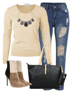 """Fall fashion girl"" by myfriendshop ❤ liked on Polyvore featuring Gianvito Rossi"