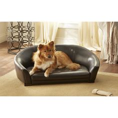 @Overstock - Furniture grade pet sofa complements any decor.  Fits pets up to 70lbs.  Spot clean with a damp cloth.http://www.overstock.com/Pet-Supplies/Enchanted-Home-Pet-Brown-The-Artemis-Bed/6638089/product.html?CID=214117 $129.99