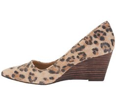 Sole Society Leather Printed Pointed Toe Wedges - Juli