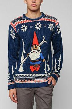Skiing gnome.