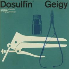 """Dosulfin®"" by 'Geigy', Medical Advertising, Size: 19 x 19 cm., Brochure/Poster, - Graphic Design by Fred Troller (b. 1930 - d. Max Bill, Medical Illustration, Graphic Illustration, Armin, International Typographic Style, International Style, Packaging Design, Branding Design, Composition"