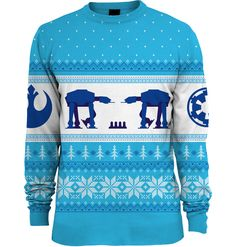 Preorder due to be shipped 4th December 2015 Get ready to have a blast this festive season in our AT-AT Christmas Jumper. Release the quadrupedal spotter in you and show your love for the great mechanical beast of the Imperial Army. Knitted into a fashionable geometric print design, the All Terrain Armoured Transporters look ready …