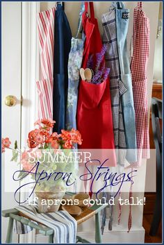 Decorating with aprons - this blog post is so sweet; it brought tears to my eyes! I adore aprons.