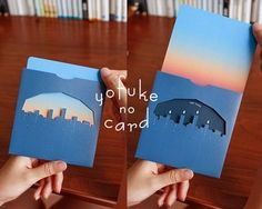 手作りだからこそ、色や材料選びは自由。可愛いらしいデザインも、彼へのかっこいいデザインも、贈る相手に合わせて思いのままに作ることができますよ。 Arte Pop Up, Interactive Poster, Leaflet Design, Letter Set, Handmade Birthday Cards, Name Cards, Book Design, Album Design, Creative Cards
