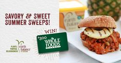 Enter to win a $300 Whole Foods Market gift card from Earth Balance and #GoPlantMade this summer!