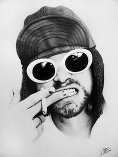 Kurt Cobain Style, Kurt Cobain Art, Kurt Cobain Photos, Nirvana Kurt Cobain, Kurt Cobain Tattoo, Nirvana Art, Nirvana Tattoo, Rock Background, Kurt And Courtney