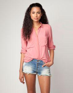 Bershka República Dominicana - Camisa Bershka tul hombros