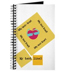 Cool All Square Wear Pink Apple Notebook Journal on CafePress.com
