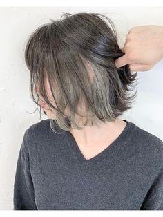 【 LIV 】インナーカラー/アッシュブラック/スモーキーグレー☆:L027429423|リヴ オオサカ(LIV OSAKA)のヘアカタログ|ホットペッパービューティー