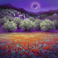 Halo de luna creciente - Luis Romero