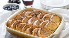 Make French toast the easy way, by prepping it the night before and baking it all at the same time!