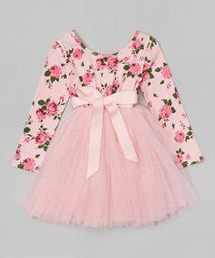 Another great find on #zulily! Designer Kidz Light Pink Floral Tutu Dress - Girls by Designer Kidz #zulilyfinds