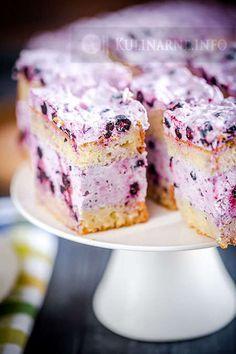 # yogurt # blueberry # cake # foam # yogurt cake with blueberry foam przepisy Polish Desserts, Polish Recipes, Sweets Cake, Cupcake Cakes, Cookie Recipes, Dessert Recipes, Yogurt Cake, Summer Cakes, Different Cakes