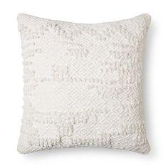 "Cream Woven Square Throw Pillow (18""x18"") - Threshold™ : Target"