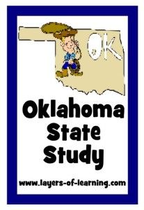 Oklahoma State Study with brief history of Oklahoma and a printable map to color