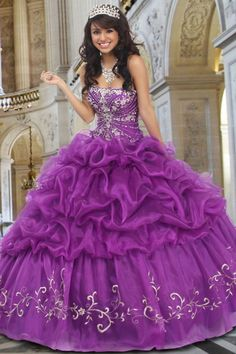 Cute Scalloped Neckline Floor Length Beaded Ball Gown With Embroidery