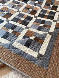 Flannel Quilts, Plaid Quilt, Scrappy Quilts, Denim Quilts, Baby Quilts, Denim Quilt Patterns, Beginner Quilt Patterns, Easy Patterns, Quilting Patterns