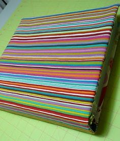 fabric binder cover
