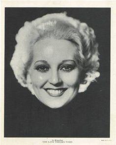 1936 R-95 In Memoriam Thelma Todd Linen Premium Photo