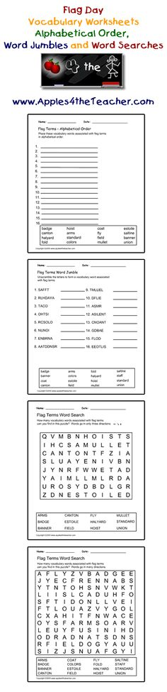 flag day worksheets activities