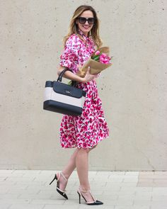 @livvylandblog in the kate spade new york florals.