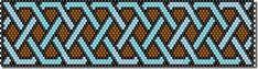 схема браслета из бисера мозаичным плетением