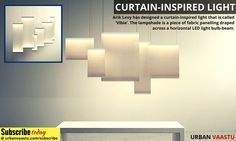 This Curtain-Inspired Light is Illuminated from Both the Top and Bottom