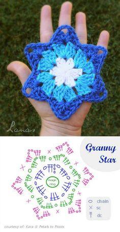 Transcendent Crochet a Solid Granny Square Ideas. Inconceivable Crochet a Solid Granny Square Ideas. Chat Crochet, Crochet Motifs, Granny Square Crochet Pattern, Crochet Diagram, Crochet Stitches, Crochet Granny, Tunisian Crochet, Knitting Charts, Knitting Patterns