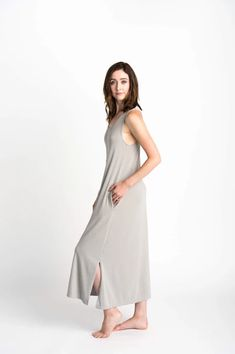 Duffield Design Dreamers Dress Striped Jersey, Dress Making, The Dreamers, Hemline, Gray Color, Dresses For Work, Model, Fabric, Cotton