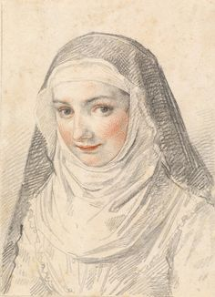A Young Nun - Claude Mellan (artist) French, 1598 - 1688 Friend Of God, Nuns Habits, Medieval Paintings, 17th Century Art, Museum, Medieval Costume, Book Of Hours, National Gallery Of Art, Dibujo