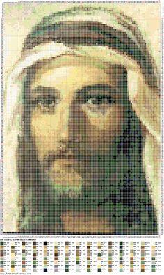 Patrón punto de cruz - Jesús pescador de hombres