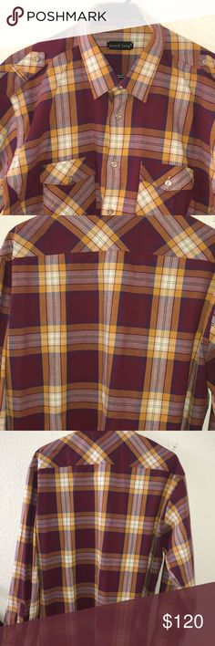 Men's Button Down Shirt Men's Button Down Shirt in excellent condition never been worn . Jared Lang Shirts Casual Button Down Shirts